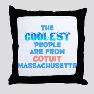 Coolest: Cotuit, MA Throw Pillow