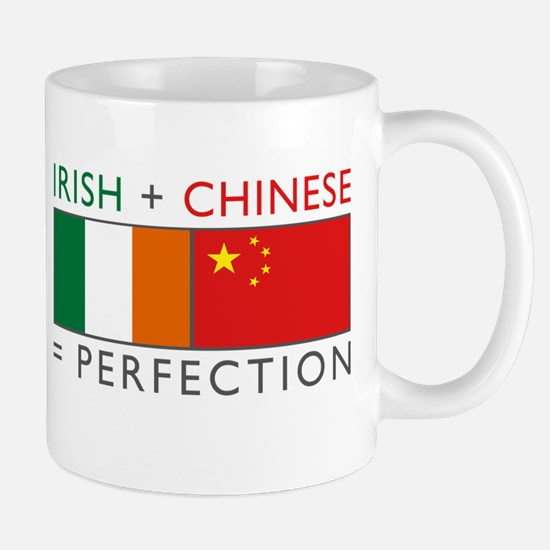 Irish Chinese heritage flag Large Mugs