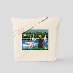 Sailboats / Affenpinscher Tote Bag
