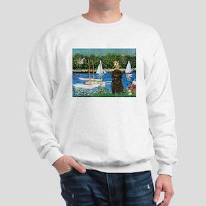 Sailboats / Affenpinscher Sweatshirt