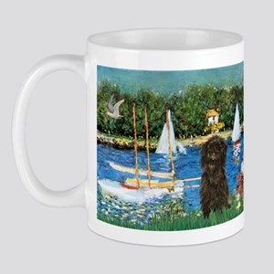 Sailboats / Affenpinscher Mug