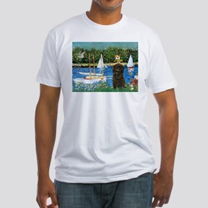 Sailboats / Affenpinscher Fitted T-Shirt