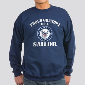 Proud Grandpa Of A US Navy Sailo Sweatshirt (dark)