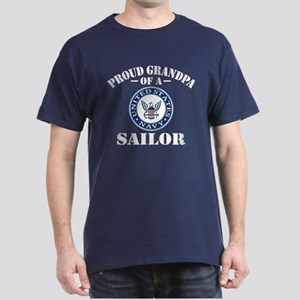 Proud Grandpa Of A US Navy Sailor Dark T-Shirt