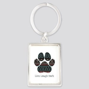 Live Laugh Bark Keychains