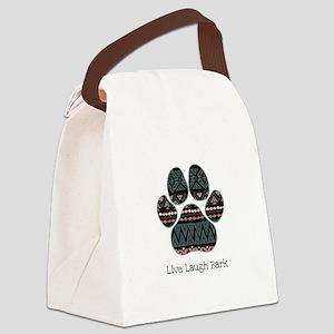 Live Laugh Bark Canvas Lunch Bag