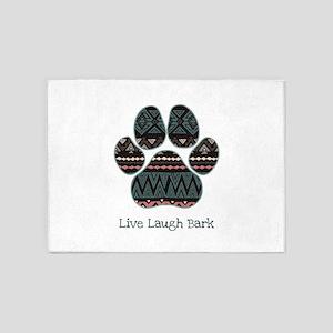 Live Laugh Bark 5'x7'Area Rug