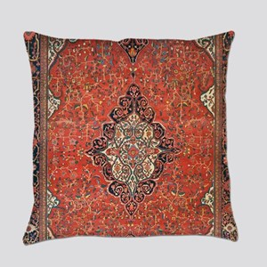 Red Vintage Persian Antique Rug Everyday Pillow