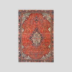 Red Vintage Persian Antique Rug 4' X 6' Ru