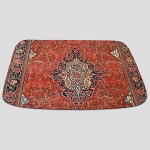 Red Vintage Persian Antique Rug Bathmat