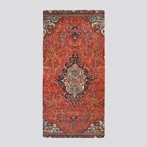 Red Vintage Persian Antique Rug Beach Towel