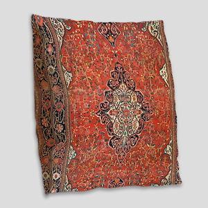 Red Vintage Persian Antique Rug Burlap Throw Pillo