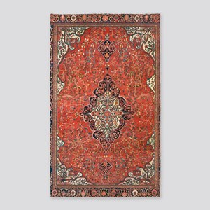 Red Vintage Persian Antique Rug Area Rug