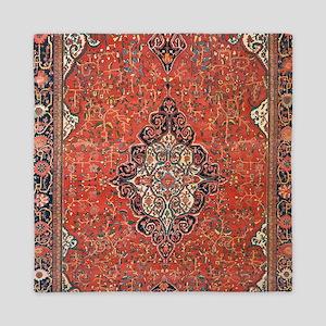 Red Vintage Persian Antique Rug Queen Duvet