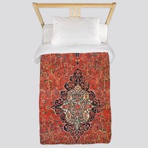 Red Vintage Persian Antique Rug Twin Duvet Cover