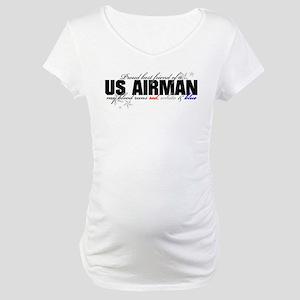 Red, white & blue AF Best Fri Maternity T-Shirt
