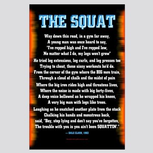 THE SQUAT POEM! Large Poster