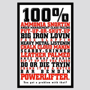 100% POWERLIFTER Large Poster
