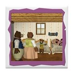 Goldilocks & The 3 Bears Tile Coaster