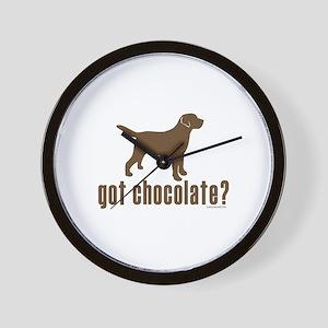 got chocolate lab? Wall Clock