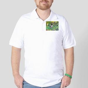 Irises-Am.Hairless T Golf Shirt