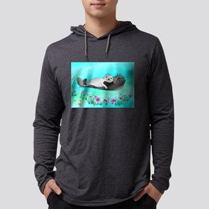 Animated Hugging Otters Long Sleeve T-Shirt