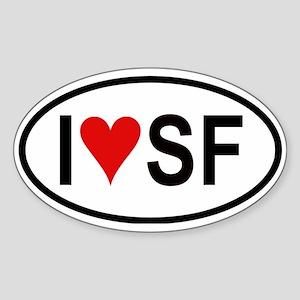 I Love San Francisco Oval Sticker
