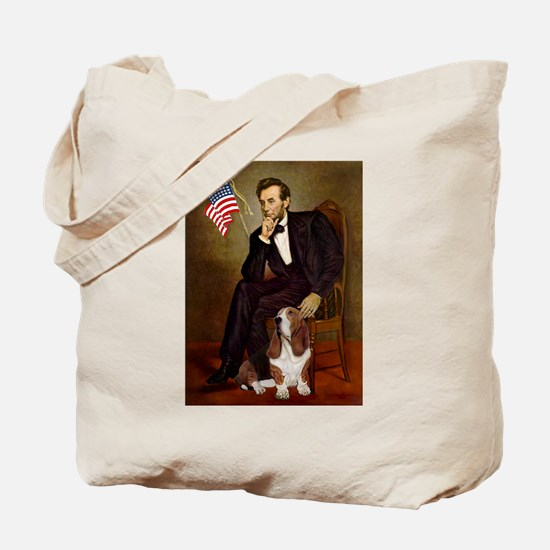 Lincoln / Basset Hound Tote Bag
