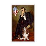 Lincoln / Basset Hound Sticker (Rectangle)