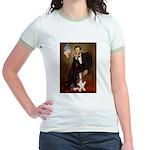 Lincoln / Basset Hound Jr. Ringer T-Shirt