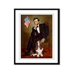 Lincoln / Basset Hound Framed Panel Print