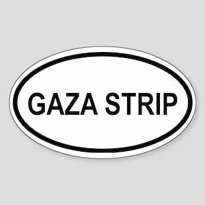 Gaza Strip Oval Sticker