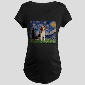 Starry Night / Beagle Maternity Dark T-Shirt