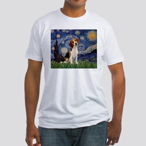 Starry Night / Beagle Fitted T-Shirt