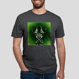 Green Textured Giraffe T-Shirt