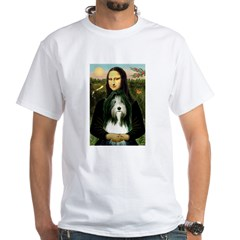 Mona / Bearded Collie White T-Shirt