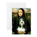 Mona / Bearded Collie Greeting Cards (Pk of 20)
