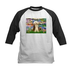Lilies / Bearded Collie Kids Baseball Jersey