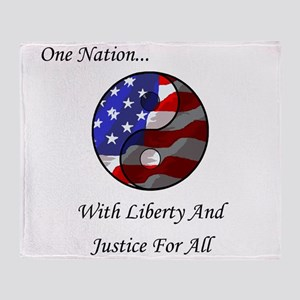 One Nation Taoist Throw Blanket