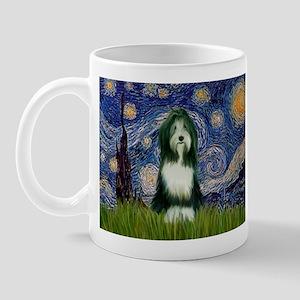 Starry Night /Bearded Collie Mug
