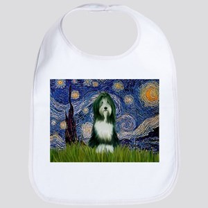 Starry Night /Bearded Collie Bib