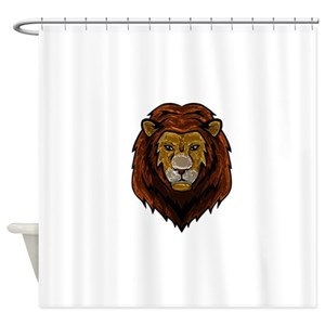 White Lion Shower Curtains