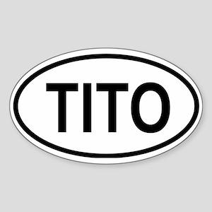 Tito Oval Sticker