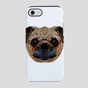 Metallic Pug iPhone 8/7 Tough Case
