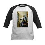 Pitcher / Bearded Collie Kids Baseball Jersey