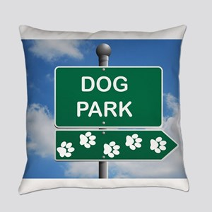Dog Park Paw Sign Everyday Pillow