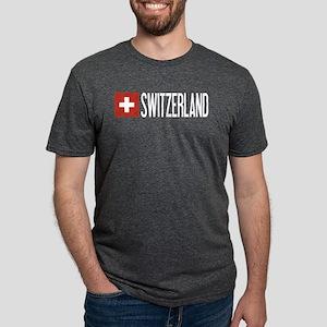 Switzerland: Swiss Flag & Swi Women's Dark T-Shirt