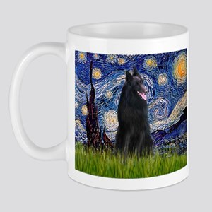 Starry Night /Belgian Sheepdog Mug