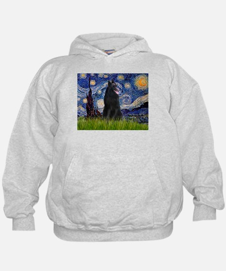 Starry Night /Belgian Sheepdog Hoodie