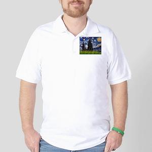 Starry Night /Belgian Sheepdog Golf Shirt